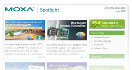 Click here to read previous issues of Moxa Spotlight